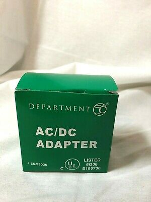 Department 56 AC//DC Adapter 55026 GUC 3 Plugs