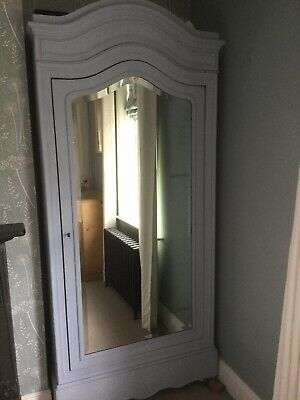 Stunning Antique French Louis XV Style Armoire Wardrobe Painted With Shelves