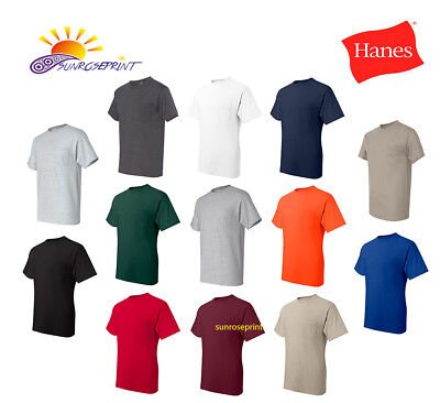 Hanes - Beefy-T with a Pocket  100% Cotton Mens Tee S-3XL- 5190