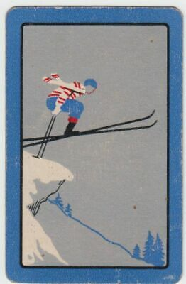 A110  Vintage Playing Card Australian  Made .Retro Skier