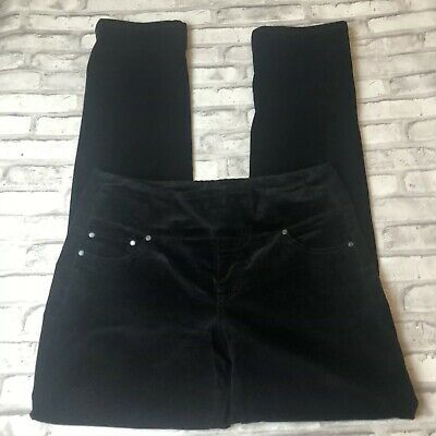 Jag Jeans Corduroy Pants Size 10 Womens Straight Leg High Rise Black Pull On O26