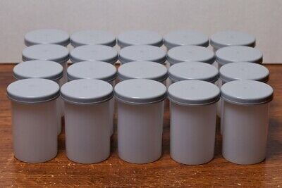 Lot of 20 35mm Film Cans Canisters Containers, Kodak type