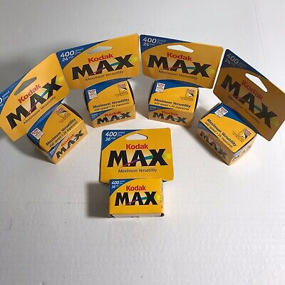 Bundle Of 5 Kodak Max Versatility 400 Film 24 Exp. 35mm Color Roll New-Expired