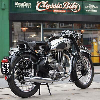 1950 Norton ES2 500 Classic Vintage, With Original Buff Book, Matching Numbers.