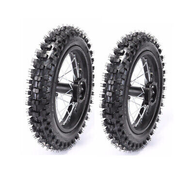 """80/100-12"""" Rear + 60/100-14"""" Front Wheel Rim Tyre for Pit Trail Dirt Bike CRF50"""