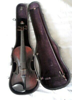 Vintage ANTONIUS STRADIUARIUS CREMONENSIS FACIEBAT ANNO 1736 ? VIOLIN with case
