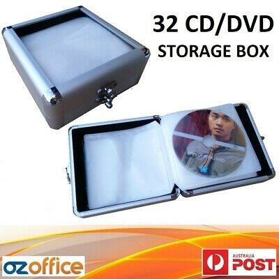 NEW 64 CD DVD Aluminium Storage Box Lock Storage Case - BUY 2 = FREE GIFT!