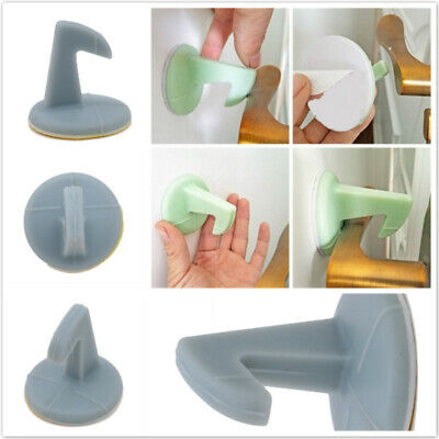 Home Silicone Door Handle Crash Pad Adhesive Mute Door Stopper Wall Protector MH