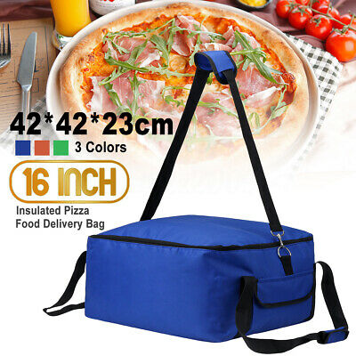 16 Inch 43cm Insulated Pizza Delivery Bag Picnic Camping Lunch Food Storage Hold
