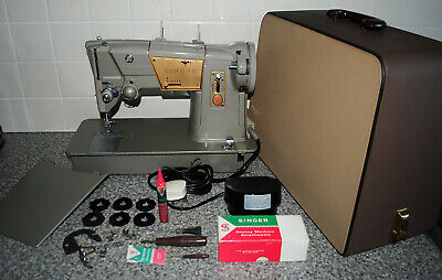 SINGER 328K Solid Metal Body Heavy Duty Sewing Machine with Cams EXCELLENT!