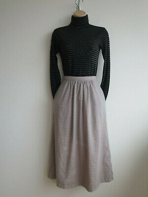 "Vintage skirt with pockets Hardy Amies wool blend light grey 1970s S W25"" H37"""