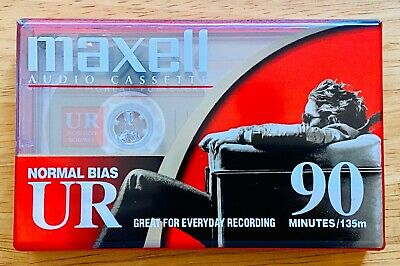 Maxell Blank Audio Cassette Tape UR 90 Normal Bias IEC Type 1 Brand New Sealed