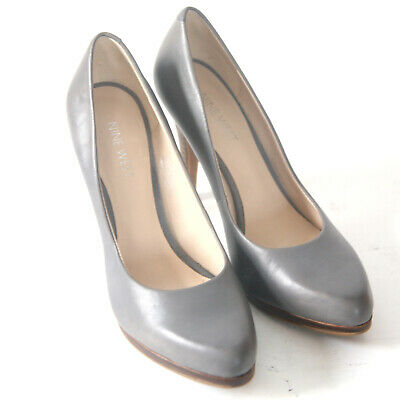 Size 6.5 - NINE WEST Rocha Women's Gray Leather Pumps