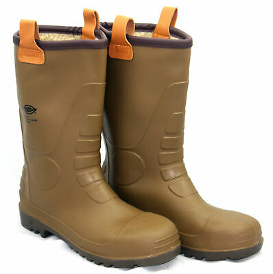DICKIES GROUNDWATER SAFETY RIGGER BOOTS Steel Toe Wellington Wellies UK size 8