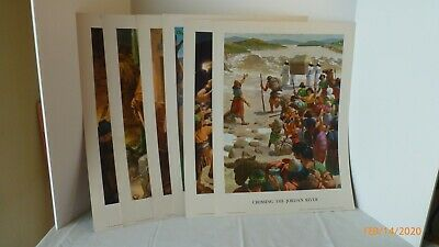 Vintage Concordia Sunday School Teaching Pictures Prints NewTestament Set of 6