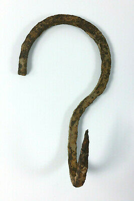 Primitive Antique Hand Forged Wrought Iron Hook