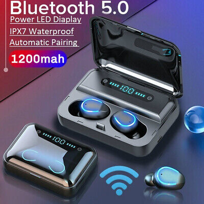 TWS Bluetooth 5.0 Headset True Wireless Headphones Earbuds Stereo Earphones