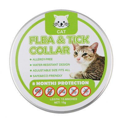1pc Flea and Tick Collar for Cats Pet Plant Pest 8 Months Protection 13 inch 1x