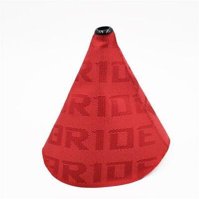 Universal Bride Style RED Gear Shift Boot Gaiter Gator Material JDM