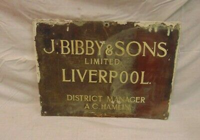 Antique Copper Name Plaque Sign
