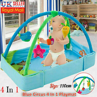 4 in 1 Baby Gym Activity Foam Play Floor Mat Ball Pit & Toys Babies Playmat UK