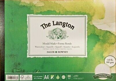 Daler Rowney Langton Cold Pressed NOT Watercolour Paper Pad A4