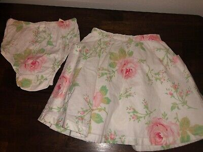 New Baby Gap 2T Girls Floral Skirt and Bloomers White/Pink 100% Cotton