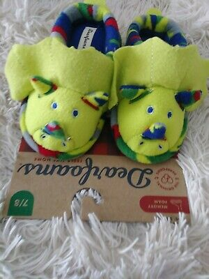 11//12,13//1 Eyes Light Up Toddlers:7//8 NORDSTROM Dinosaur Slippers w//ELASTIC BK