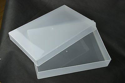 A4 (Pack of 5) Plastic Storage Boxes for craft, card and paper