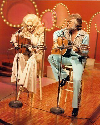 Dolly Parton Kenny Rogers Unsigned 8x10 Photo (A)