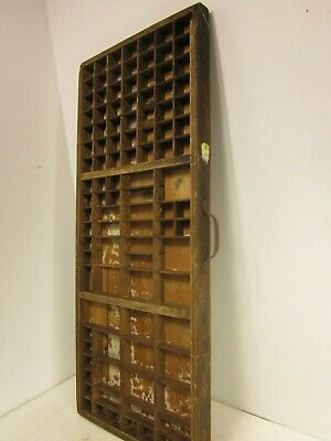 Vintage printers typeset/letterpress wood/wooden tray/drawer shadow board/box #2