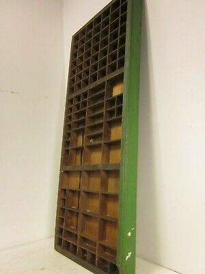 Vintage printers typeset/letterpress wood/wooden tray/drawer shadow board/box #3