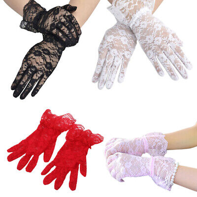 Fashion Women Bridal Evening Wedding Party Prom Driving Costume Lace Gloves Z2M1