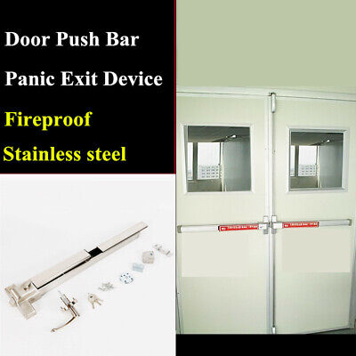 Door Push Bar Safety Panic Bar Exit Device Hardware Heavy Duty Commercial ON SAL