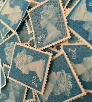 5 2nd Class Security Stamps Unfranked OFF PAPER No Gum
