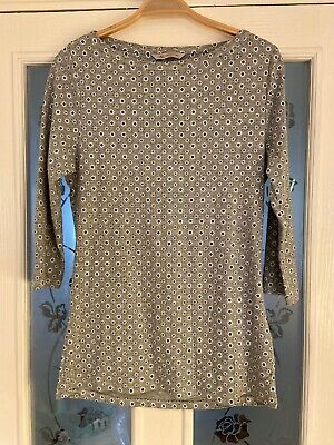 Ladies Clothes Size 14 M&S Grey Top 3/4 Sleeves (684)