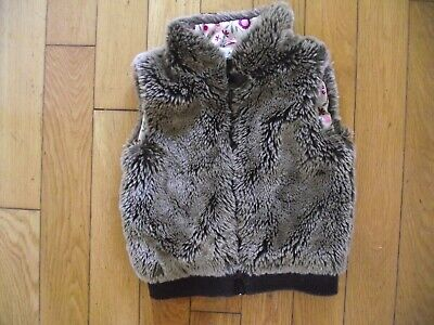 Girls Faux Fur Gillet From Autograph Age 3/ 4 Yrs Brown