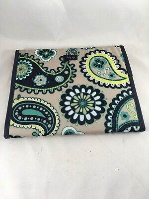 Thirty One Fold it Up Organizer Case Paisley Day With Note Pad