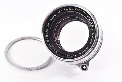 CANON early chrome ver 50mm/F1.8 Leica 39mm LMT screw mount #163470
