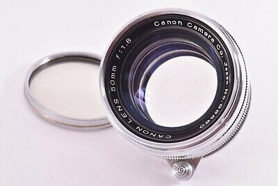 CANON early chrome ver 50mm/F1.8 Leica 39mm LMT screw mount very good #98560