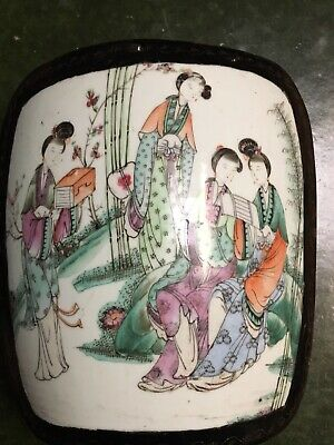 Japanese Papier Mache Box With Pottery Lid