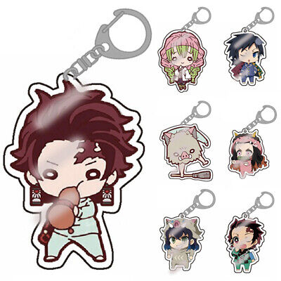 Demon Slayer Kimetsu no Yaiba 2019 Anime Acrylic Transparent Keychain - Giyuu