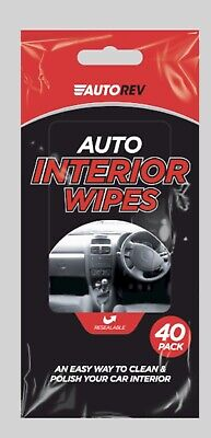 # 40 Car Interior Wipes Dashboard Cleaning