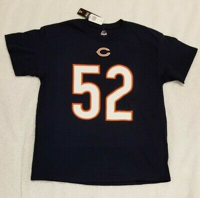 Chicago Bears Majestic Khalil Mack #52 Name And Number T-shirt Navy Men's Large
