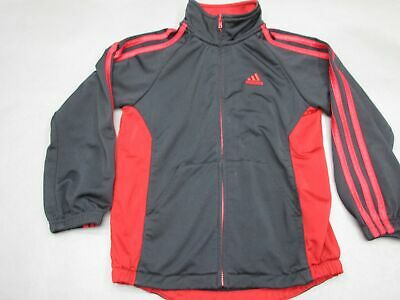 Adidas Size 6 Girls Red/Black Full Zip Athletic Outerwear Track Jacket 273
