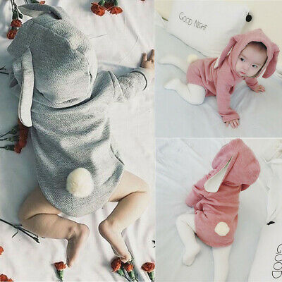 Easter Newborn Baby Hoodie Jumpsuit Romper Kids Girl Boy Clothes Outfits Outwear