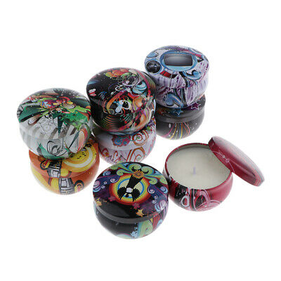 8Pcs Portable Tins Scented Candle Soy Wax Candle Birthday Gift Room Decoration