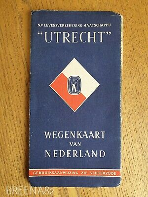 Vintage Pre WW2 1930's Tourist guide - Fold out map book UTRECHT NETHERLANDS
