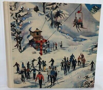Terra Traditions Photo Album With Swarovski Crystals Ski Chalet Snow Vacation