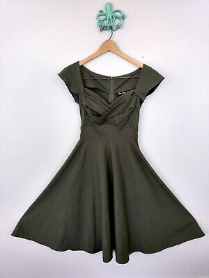 New! Vintage Inspired Gray Chelsea Dress Rockabilly /& Pinup Stop Staring!